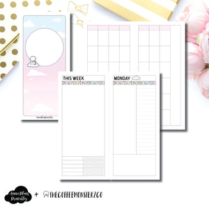H Weeks Size | TheCoffeeMonsterzCo Undated Daily Collaboration Printable Insert ©