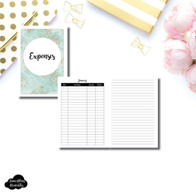 A5 Rings Size | Monthly Expense Tracker Printable Insert ©