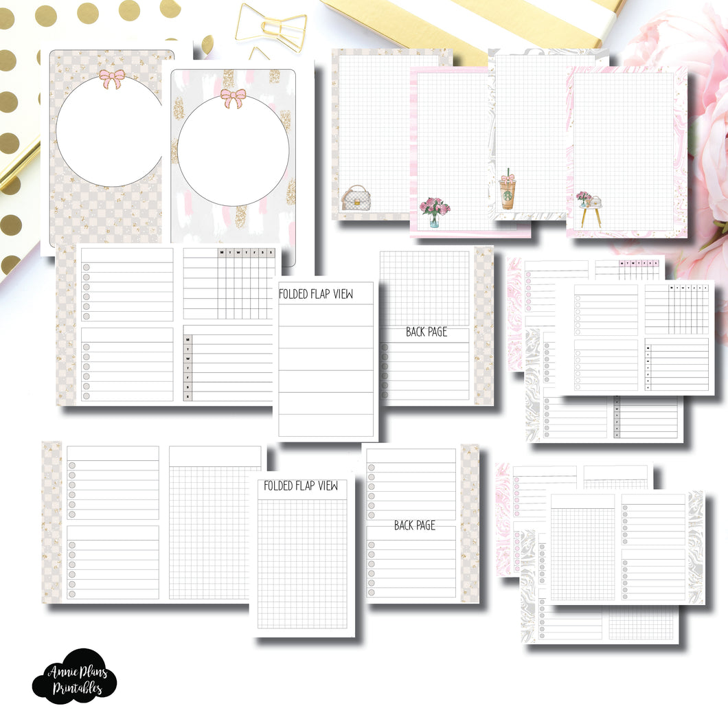 Micro HP Size | Weekly/Grid Fold Over Bundle Printable Insert ©