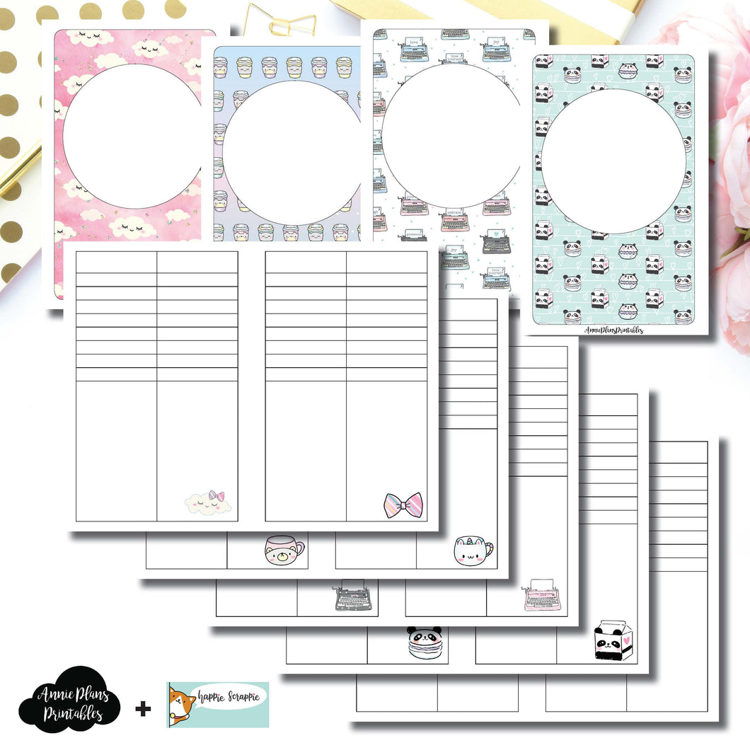 Pocket TN Size | HappieScrappie Lists/Weekly Collaboration Printable Insert ©