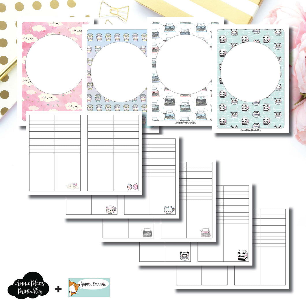 A6 TN Size | HappieScrappie Lists/Weekly Collaboration Printable Insert ©