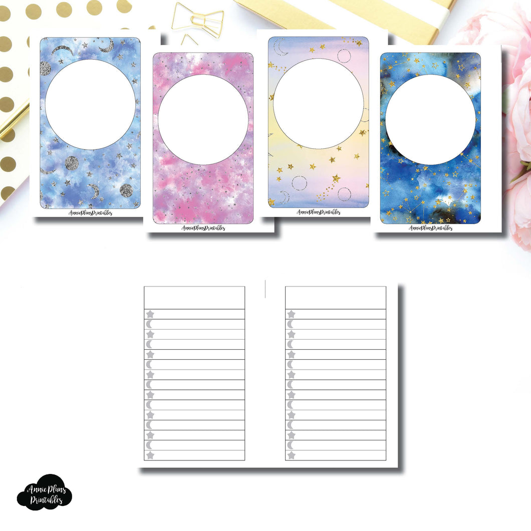 Pocket Rings SIZE | Blank Covers + Celestial Lists Printable Insert ©