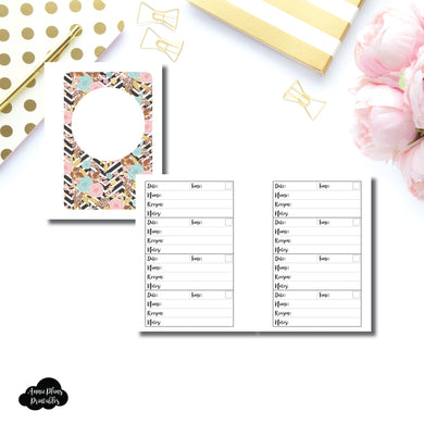 Micro HP Size | Appointment Tracker Printable Insert ©