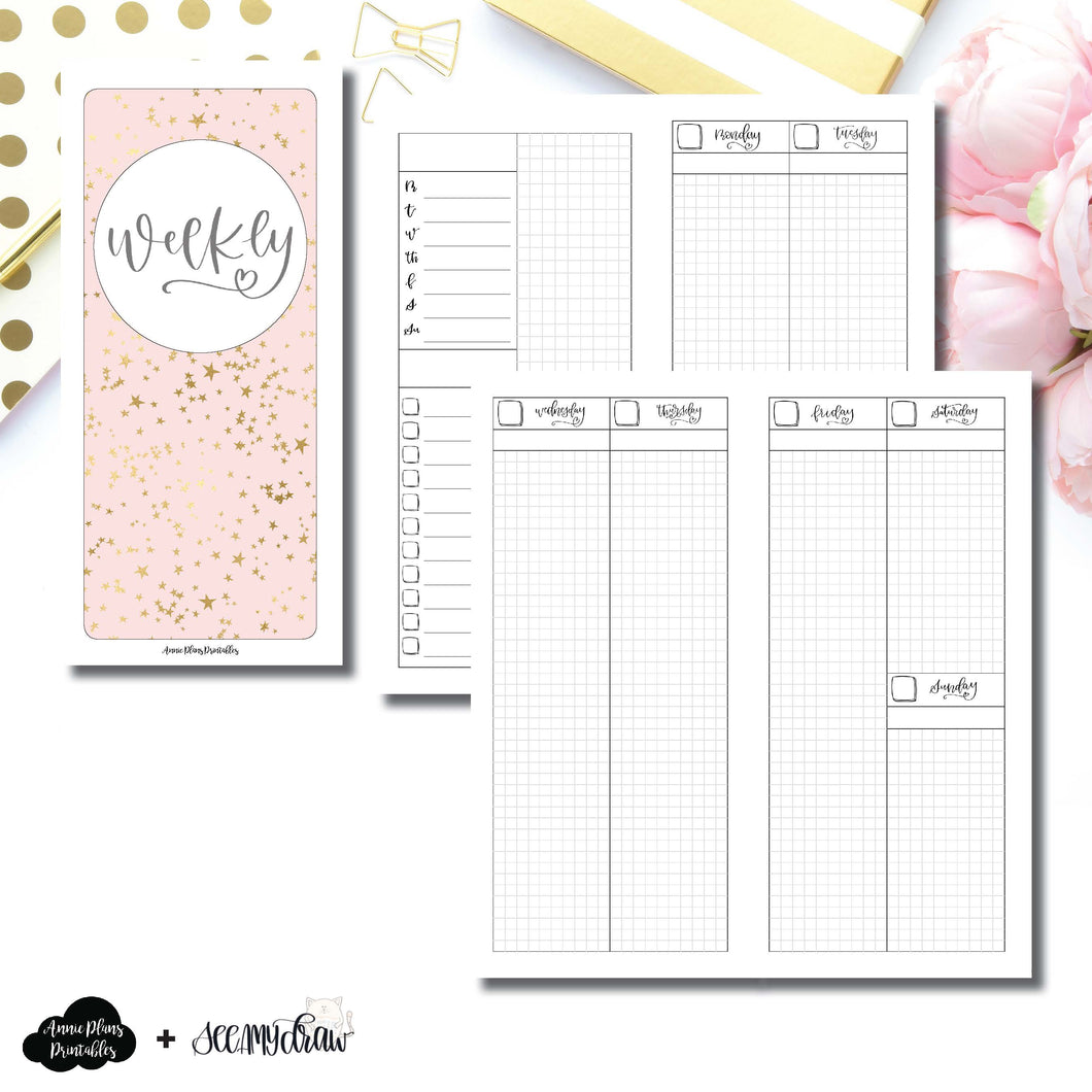 HWeeks Wide Size | SeeAmyDraw Undated Weekly Collaboration Printable Insert ©