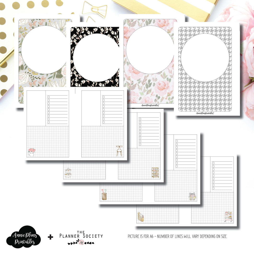 Half Letter Rings Size | Limited Edition TPS January Collaboration Printable Insert ©