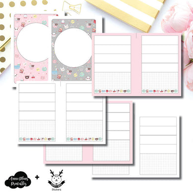 Pocket Plus Rings Size | New Weeks Horizontal Layout - HappyDaya Collaboration Printable Insert ©