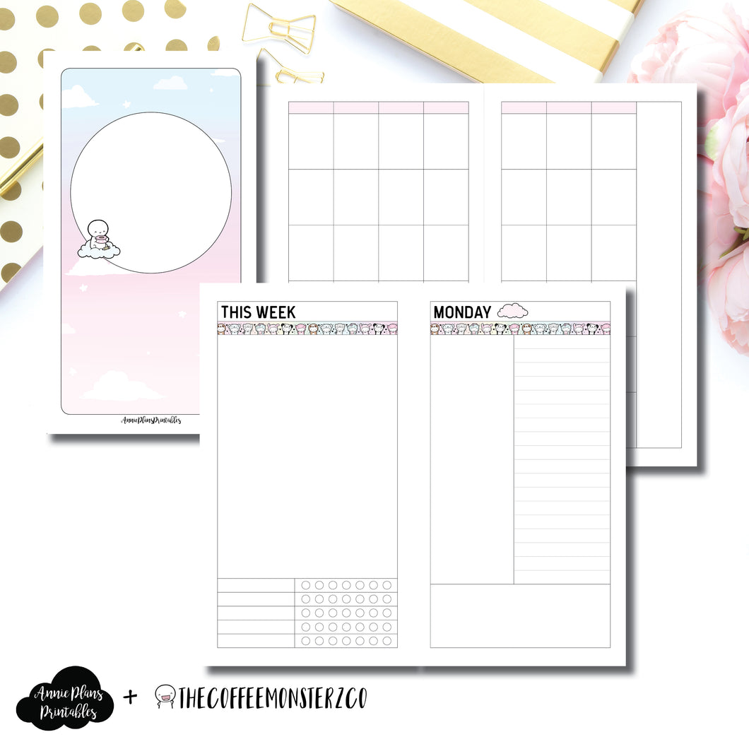 Personal TN Size | TheCoffeeMonsterzCo Undated Daily Collaboration Printable Insert ©