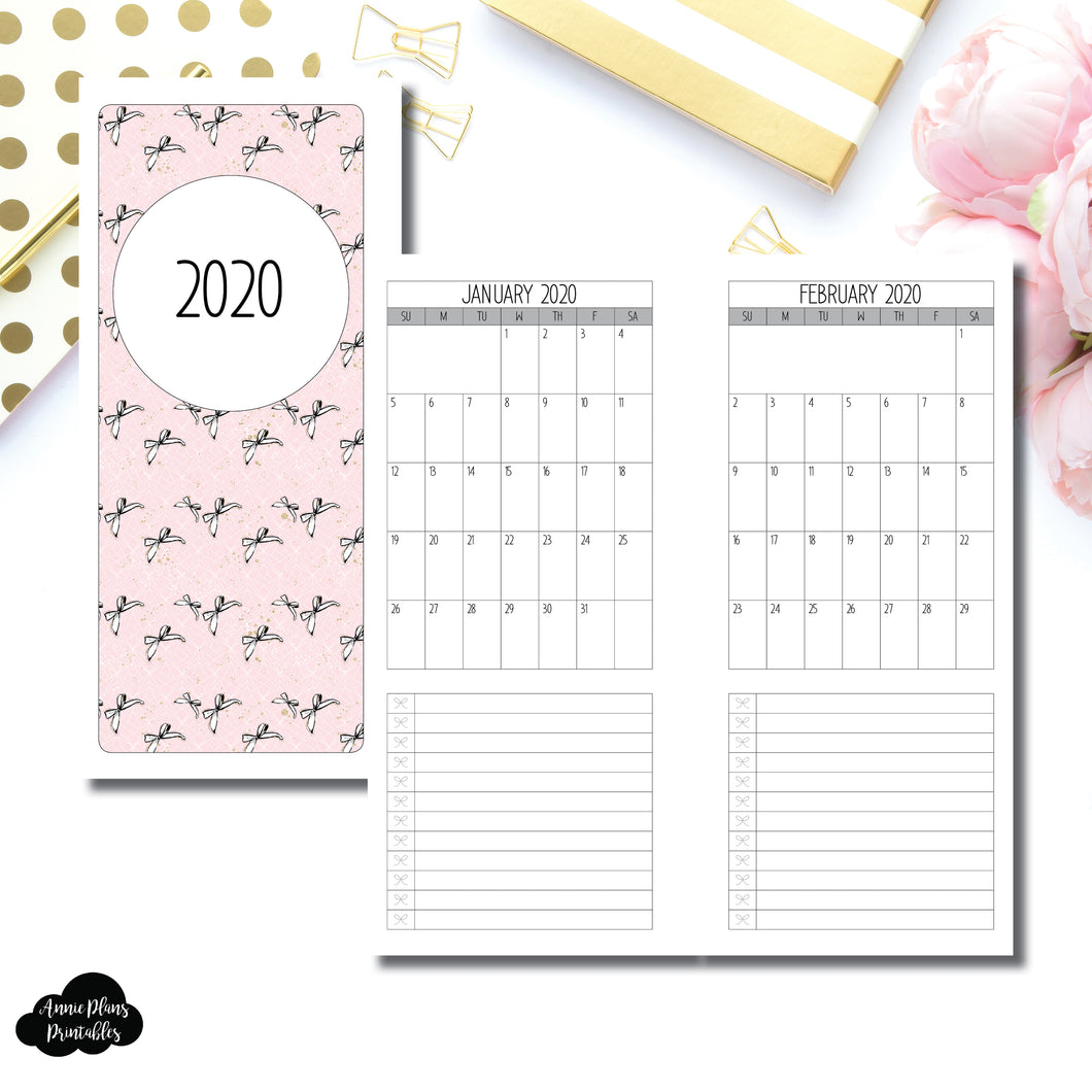 Half Page HP Size | 2020 Single Page Monthly Printable Insert ©