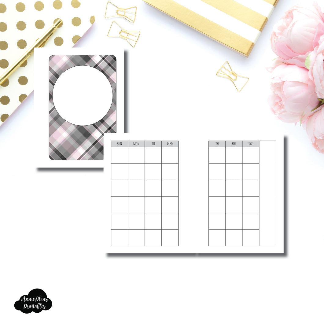Micro HP Size | Undated Monthly Calendar (SUNDAY Start) PRINTABLE INSERT ©