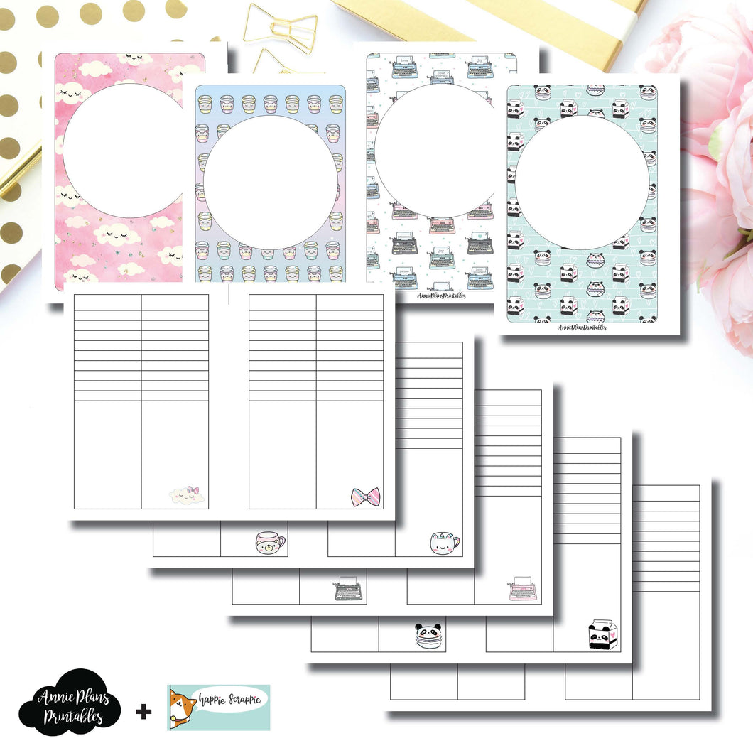 A6 Rings Size | HappieScrappie Lists/Weekly Collaboration Printable Insert ©