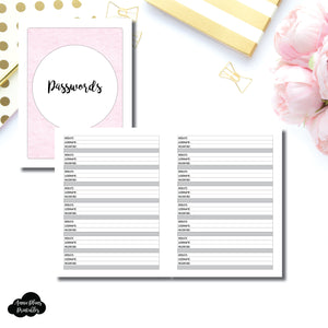 Classic HP SIZED | PASSWORD Printable Insert ©