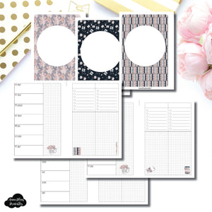 Personal Wide Rings Size | Undated Week on 2 Page Collaboration Printable Insert ©