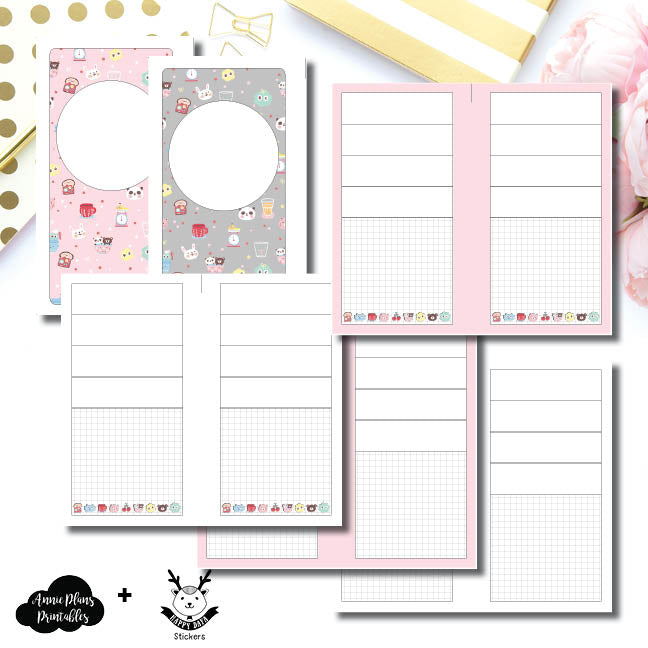Personal Rings Size | New Weeks Horizontal Layout - HappyDaya Collaboration Printable Insert ©
