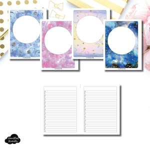 B6 Rings SIZE | Blank Covers + Celestial Lists Printable Insert ©