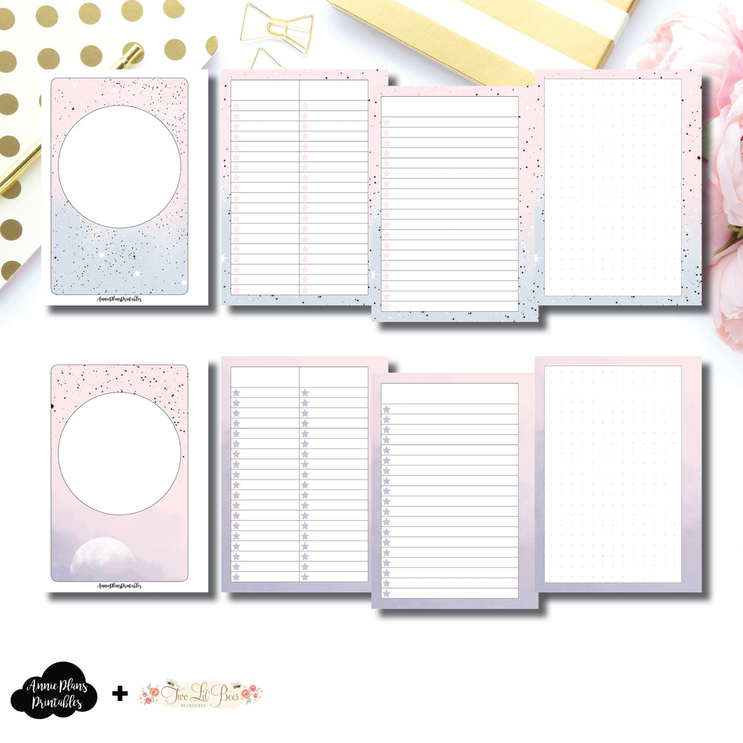 A6 Rings Size | Lists & Notes TwoLilBees Collaboration Bundle Printable Inserts ©