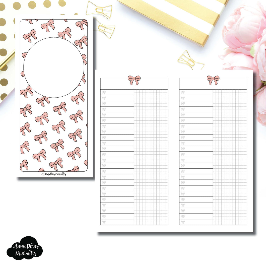 HWeeks Wide Size | Fox & Pip Collaboration: List + Grid Column Printable Insert ©