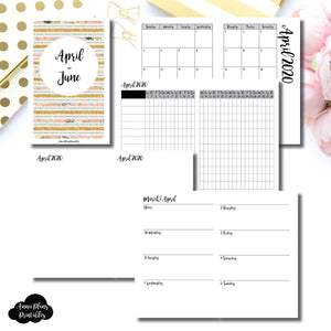 Pocket TN Size | APR  - JUN 2020 | Week on 2 Page (Monday Start) Horizontal Layout | Printable Insert ©