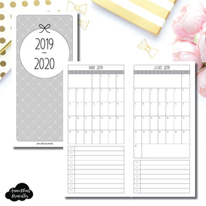 HWeeks Wide Size | 2019 - 2020 Single Page Monthly Printable Insert ©