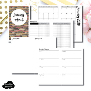 B6 Slim TN Size | JAN  - MAR 2020 | Week on 2 Page (Monday Start) Horizontal Layout | Printable Insert ©