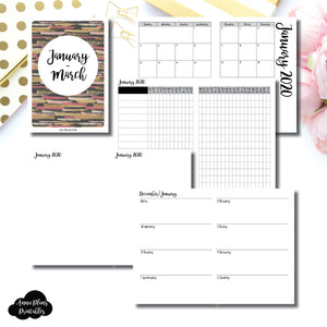 A6 TN Size | JAN  - MAR 2020 | Week on 2 Page (Monday Start) Horizontal Layout | Printable Insert ©