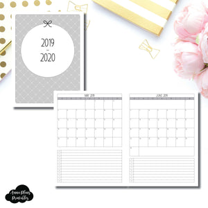 Classic HP Size | 2019 - 2020 Single Page Monthly Printable Insert ©
