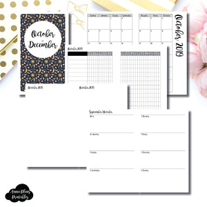 B6 SLIM TN Size | OCT - DEC 2019 | Week on 2 Page (Monday Start) Horizontal Layout | Printable Insert ©