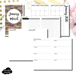 Cahier TN Size | JAN  - MAR 2020 | Week on 2 Page (Monday Start) Horizontal Layout | Printable Insert ©