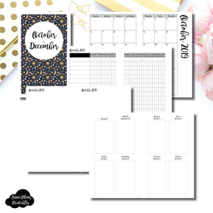 B6 SLIM TN Size | OCT - DEC  2019 | Vertical Week on 2 Page (Monday Start) Printable Insert ©