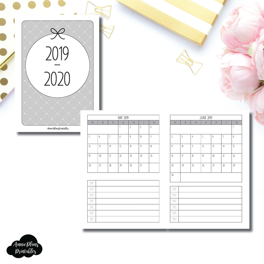 Passport TN Size | 2019 - 2020 Single Page Monthly Printable Insert ©