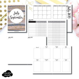 A6 TN Size | JUL - SEP  2019 | Vertical Week on 2 Page (Monday Start) Printable Insert ©