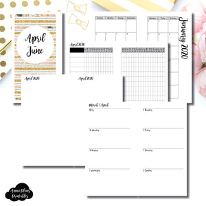 Personal Rings Size | APR  - JUN 2020 | Week on 2 Page (Monday Start) Horizontal Layout | Printable Insert ©