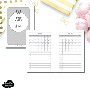 Pocket Rings Size | 2019 - 2020 Single Page Monthly Printable Insert ©