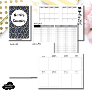 POCKET TN Size | OCT - DEC  2019 | Vertical Week on 2 Page (Monday Start) Printable Insert ©