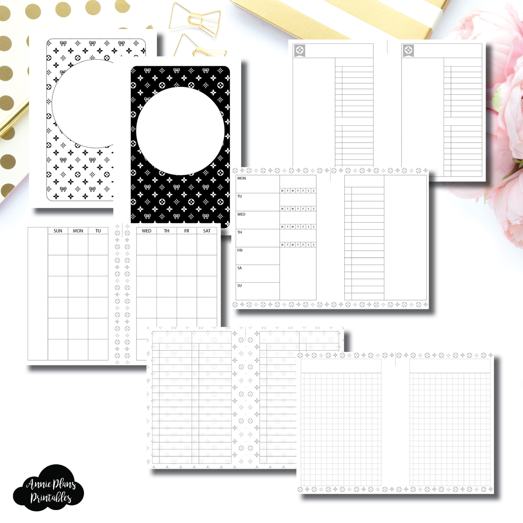 A5 Wide Rings Size | Luxe Minimalist Bundle Printable Insert