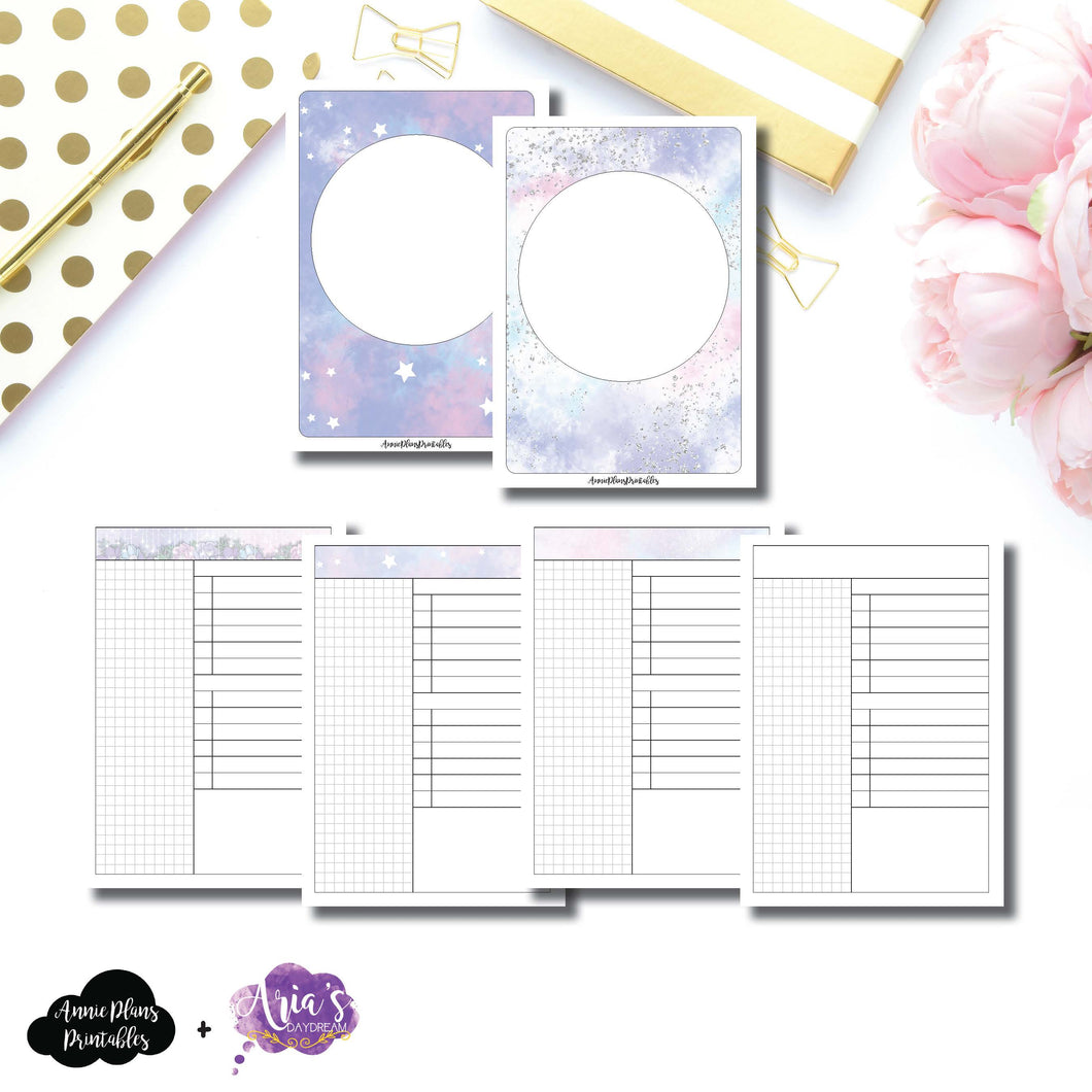 A6 TN Size | Aria's Daydream Anniversary Collaboration Daily Printable Insert ©