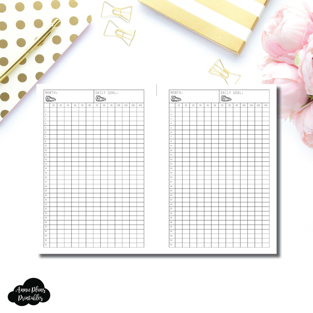 FREEBIE Personal Wide Rings Size | Monthly Step Tracker Printable