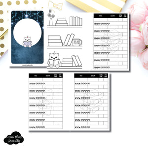 Pocket Plus Rings Size | SpotDrop Collaboration Reading Book Log Printable Insert ©