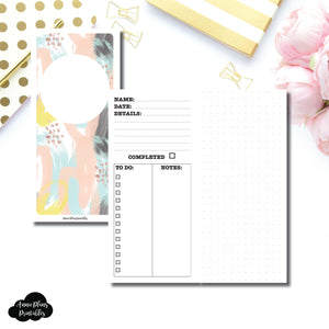 H Weeks Size | Event/Project Planning Printable Insert ©