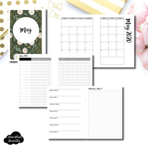 Personal Wide Rings Size | MAY 2020 | Month/Weekly/Daily GRID (Monday Start) Printable Insert ©
