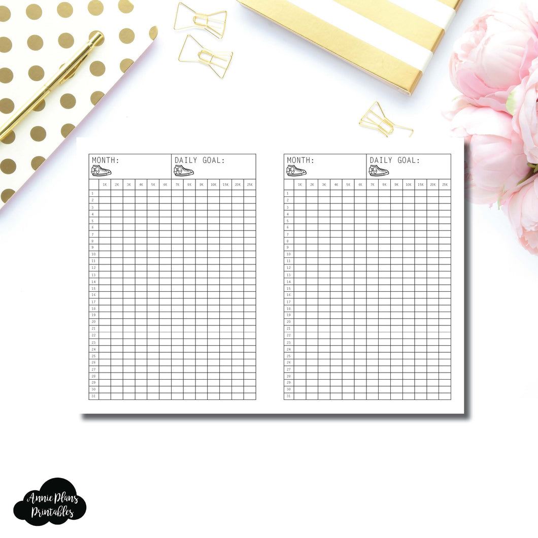 FREEBIE Passport TN Size | Monthly Step Tracker Printable
