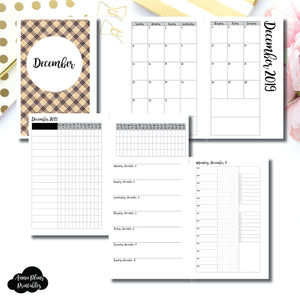 Half Letter Rings Size | DEC 2019 | Month/Weekly/Daily 3 COLUMN TIMED (Monday Start) Printable Insert ©