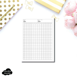 FREEBIE A5 Wide Rings Size | Monthly Step Tracker Printable