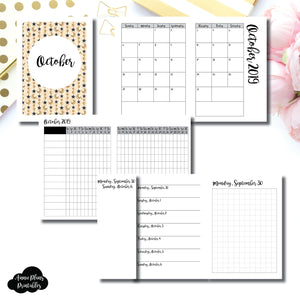 Passport TN Size | OCT 2019 | Month/Weekly/Daily GRID (Monday Start) Printable Insert ©