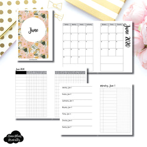 A6 Rings Size | JUN 2020 | Month/Weekly/Daily UNTIMED (Monday Start) Printable Insert ©