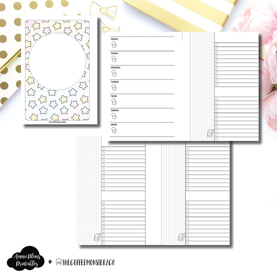 Personal Wide Rings Size | TheCoffeeMonsterzCo Collaboration Weekly/Daily Printable Insert ©