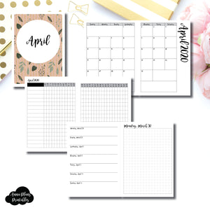 B6 TN Size | APR 2020 | Month/Weekly/Daily GRID (Monday Start) Printable Insert ©
