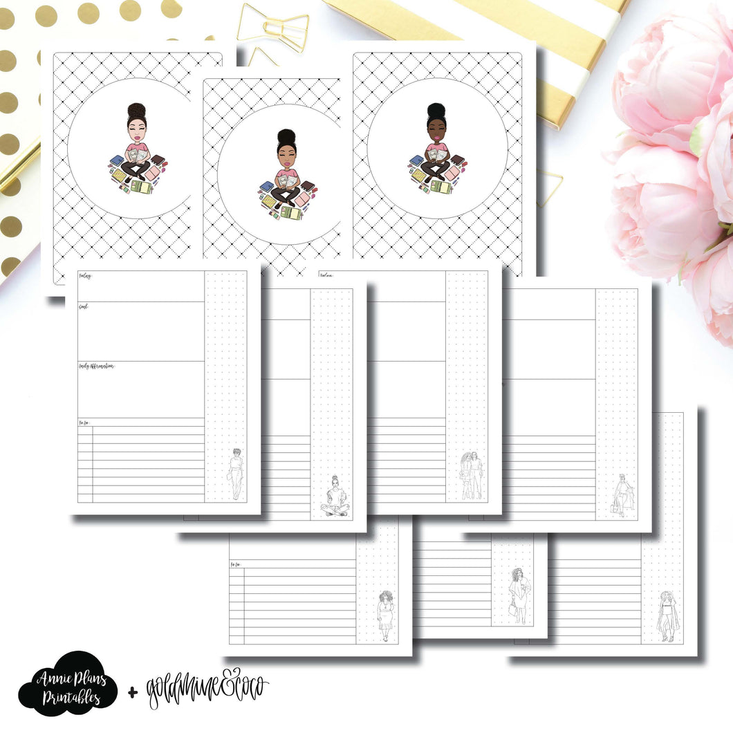 Classic HP Size | Goldmine & Coco Daily Collaboration Printable Inserts ©