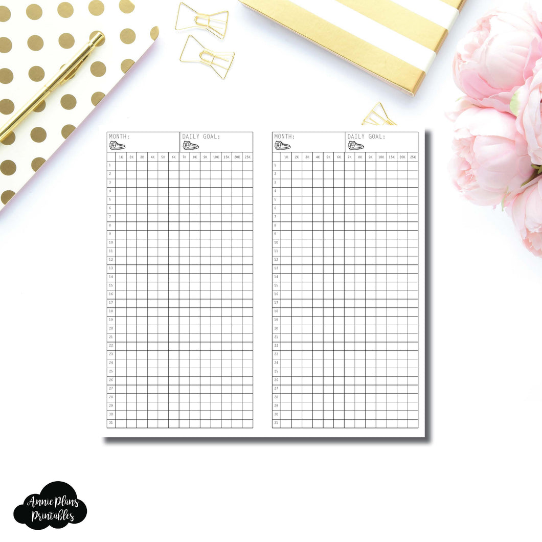 FREEBIE Standard TN Size | Monthly Step Tracker Printable