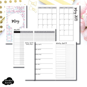 Personal TN Size | MAY 2019 | Month/Weekly/Daily UNTIMED (Monday Start) Printable Insert ©