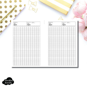 FREEBIE A6 Rings Size | Monthly Step Tracker Printable